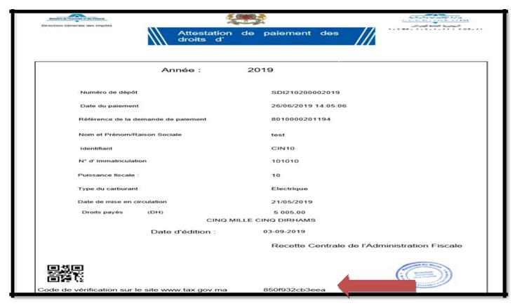 Paiement des Droits d'Immatriculation en ligne SIMPL