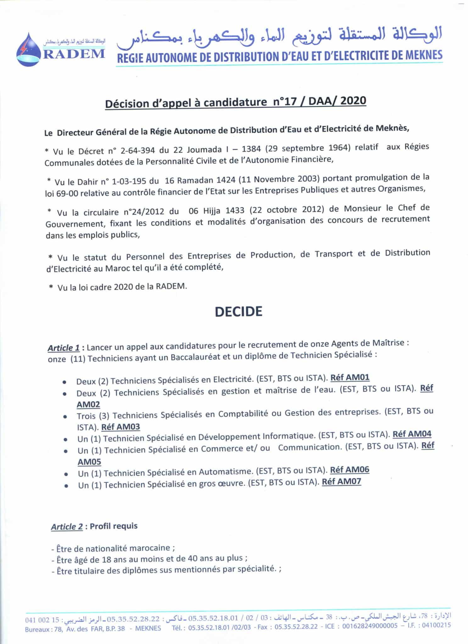 (11) Techniciens Spécialisés